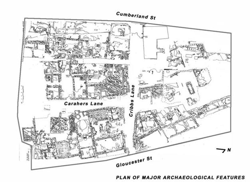 Plan of Major Archaeological Features
