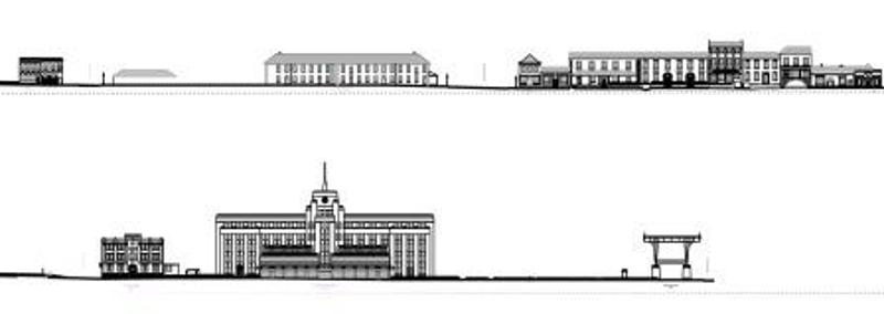 Elevations of buildins along George St, 1850 & 2005