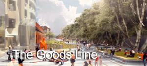 The Goods Line feature